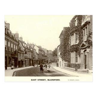 Vykort östlig gata, Blandford fora, Dorset