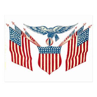 Vykort - patriotisk örn