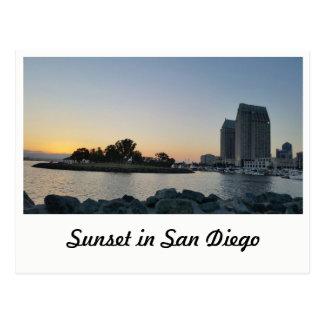 Vykort - solnedgång i San Diego