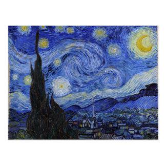 """Vykort Vincent Van Gogh """"för Starry natt"""""""