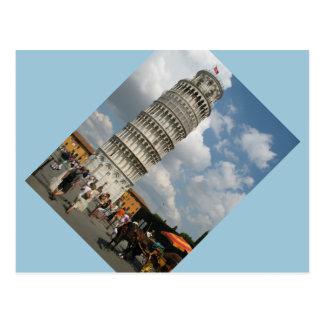 Vykortbenägenhettorn av den Pisa vykortet Vykort