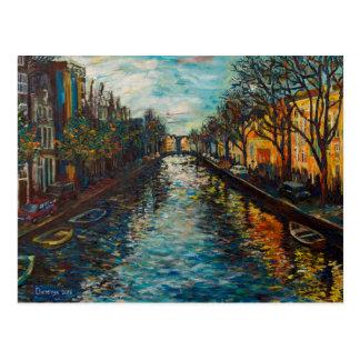 Vykortet med Amsterdam ` s beskådar Vykort