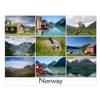 Vykortet med landskap och texten: 'Norway Vykort
