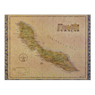Vykortkarta av Curacao Vykort
