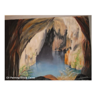 VykortoljemålningSinoia grottor Vykort