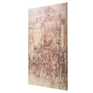 W.29 skissar av en folkmassa för en klassisk plats canvastryck