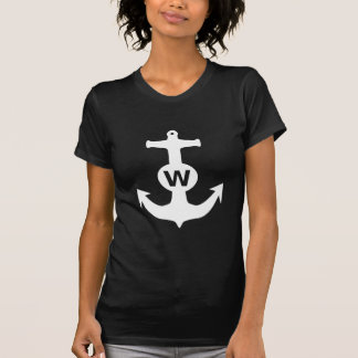 W ankrar den roliga gåvan för den Wanchor T-shirt