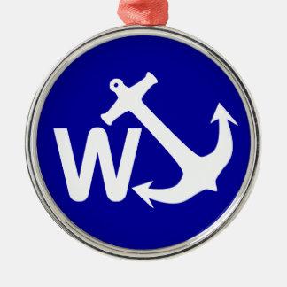 W ankrar den roliga gåvan för det Wanchor skämtet Julgransprydnad Metall