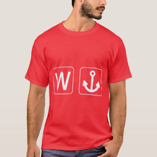W ankrar Wanchor den roliga gåvan T-shirt