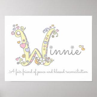 W för namn för Winnie det menande initiala Poster