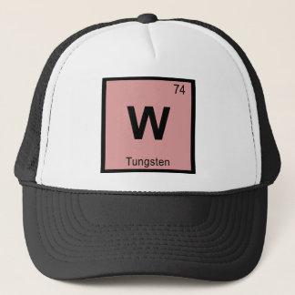 W - Symbol för bord för Tungstenkemi periodiskt Truckerkeps