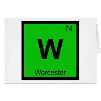 W - Worcester Massachusetts kemisymbol Hälsningskort
