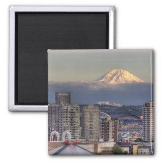 WA Seattle, Mount Rainier från Kerry parkerar Magnet
