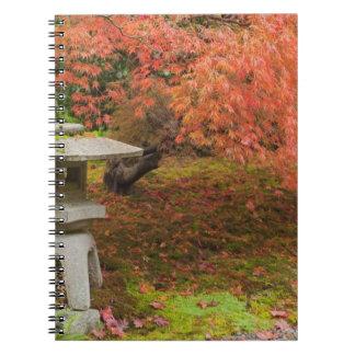 WA Seattle, Washington parkerar arboretumen, japan Anteckningsbok Med Spiral