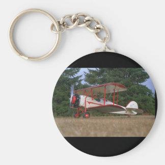Waco Straightwing, flyg 1929_Classic Rund Nyckelring