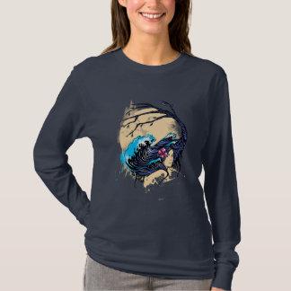 Wahine nimbus (marinen) tee shirt