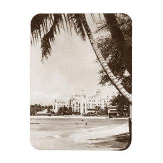Waikiki för slott för magnetvintage rosa strand magnet