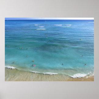 Waikiki strand poster