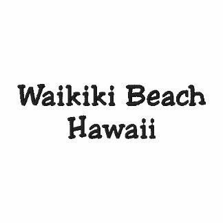 Waikiki strandHawaii skjorta - anpassade!!! Broderad Tröja