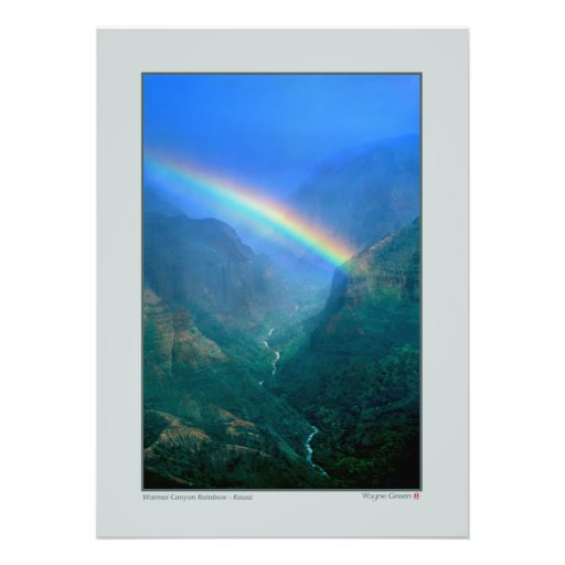 Waimai kanjonregnbåge - Kauai Foto