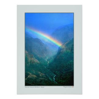 Waimai kanjonregnbåge - Kauai Fototryck
