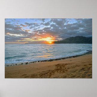 Wainiha fjärd, Kauai, Hawaii, soluppgång Poster