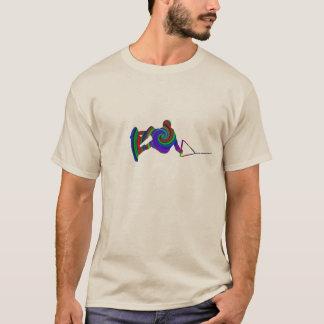 Wakeboard färg virvlar runt T-tröja Tröjor