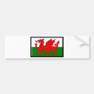 Wales flagga bildekal