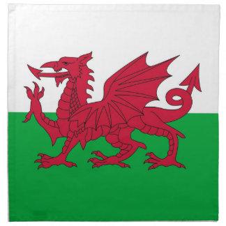 Wales flagga på den MoJo servetten Tygservett