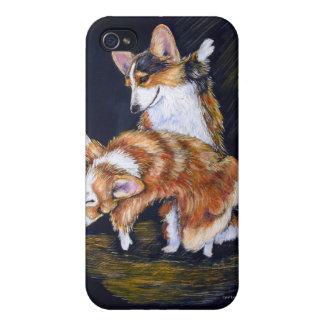 Walesisk Corgiiphone case för Pembroke iPhone 4 Skydd