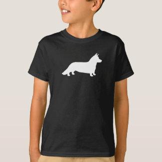 Walesisk CorgiSilhouette för kofta Tee Shirts