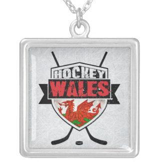 Walesisk ishockey skyddar Penant Silverpläterat Halsband