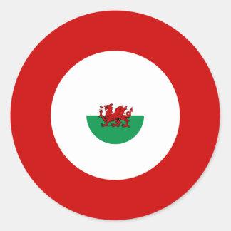 Walesisk klistermärke för modBullseyerunda