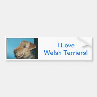 Walesisk Terrier Bildekal