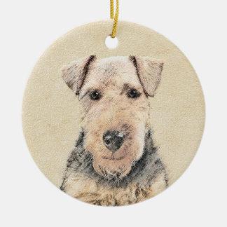 Walesisk Terrier Julgransprydnad Keramik