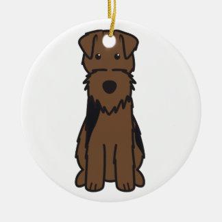 Walesisk Terrierhundtecknad Julgransprydnad Keramik