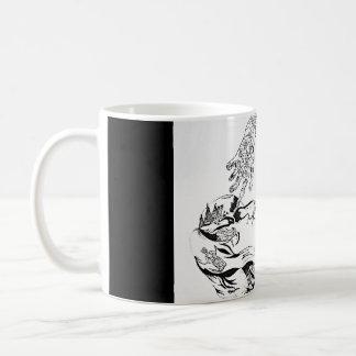 Walesiska overkliga Florence - svartvitt Kaffemugg