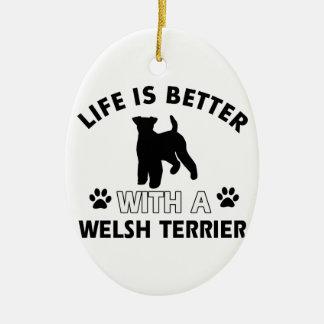 Walesiska Terrierhund avelndesigner Julgransprydnad Keramik