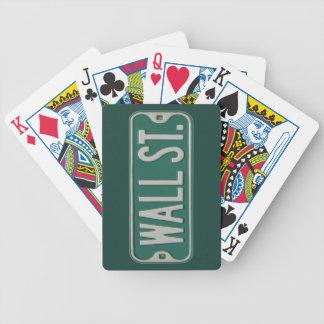 Wall street som leker kort spelkort