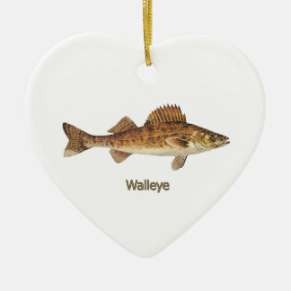 Walleye (Great Lakes) Julgransprydnad Keramik