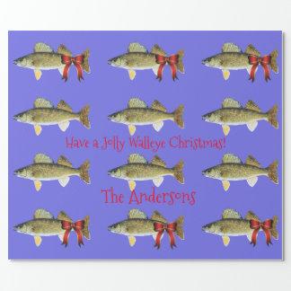 "Walleye Pike ""ha för Jolly jul för en Walleye"" Presentpapper"