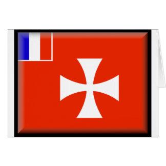 Wallis och Futuna flagga Hälsningskort