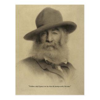 Walt Whitman ❝Journey-work av Stars❞en Vykort