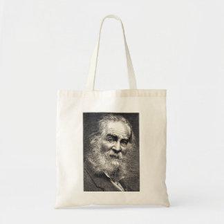 Walt Whitman löv av gräsgravyr Tygkasse