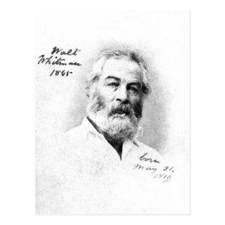 Walt Whitman som ❝Toen är med vänner, är Vykort