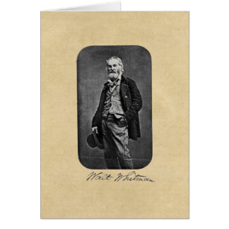 """Walt Whitman, """"ta hälsning somkortet till för den Hälsningskort"""