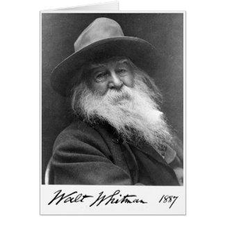 """Walt Whitman """"vishet är quotationen av för soulen"""" Hälsningskort"""