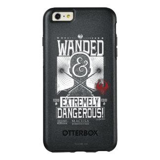 Wanded & extremt farlig önskad affisch - vit OtterBox iPhone 6/6s plus skal