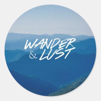 Wander&Lust originalklistermärke Runt Klistermärke