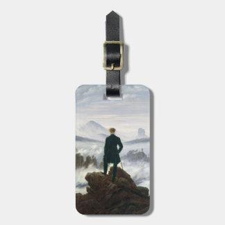 Wandereren ovanför havet av dimma bagage lapp